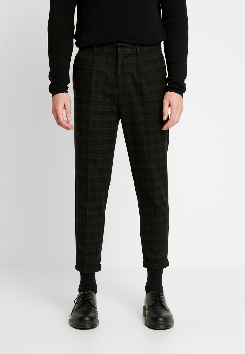 New Look - HARRISON TARTAN  - Trousers - black