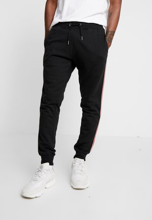 SIDE TAPE JOGGER  - Tracksuit bottoms - black