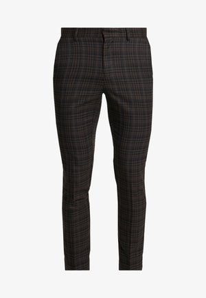 PASO HARRY GINGER HIGHLIGHT CHECK  - Suit trousers - dark brown