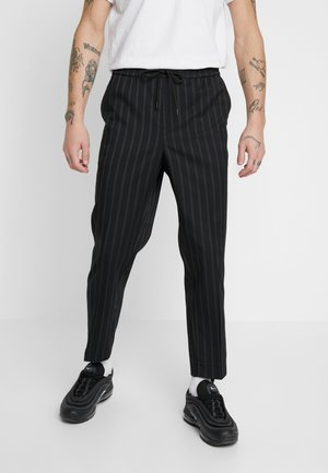CROP FITZ  - Trousers - black