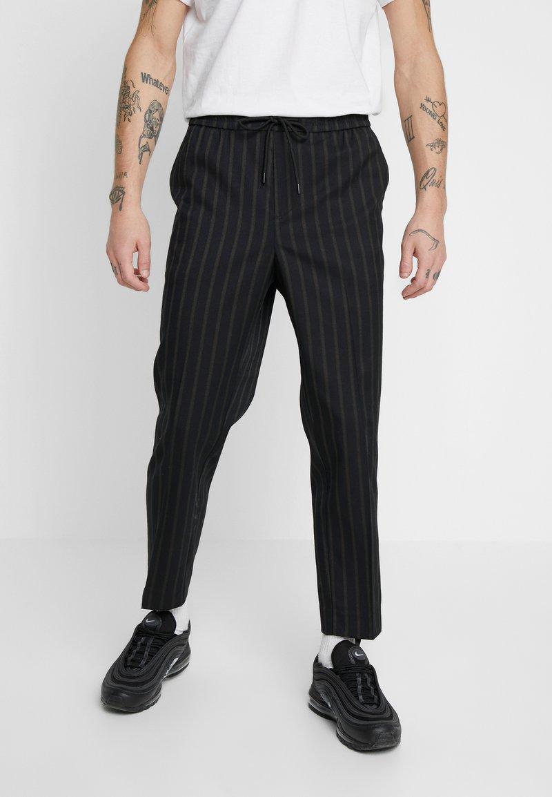 New Look - CROP FITZ  - Spodnie materiałowe - black