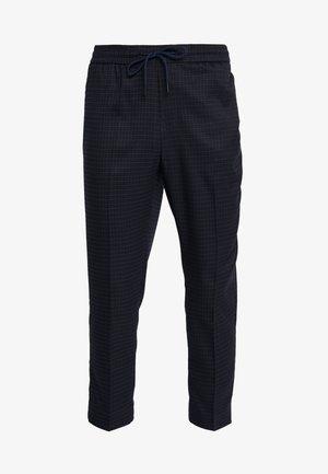 CROP GRID COX - Pantalones - navy