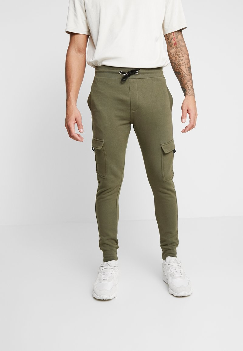 New Look - UTILITY JOGGER - Cargo trousers - dark khaki