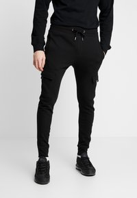 New Look - UTILITY JOGGER - Cargo trousers - black - 0