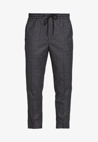 New Look - TRENDY TONAL CHECK PULL ON - Trousers - dark grey/green - 4
