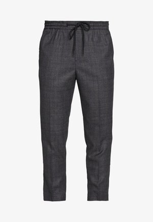 TRENDY TONAL CHECK PULL ON - Trousers - dark grey/green