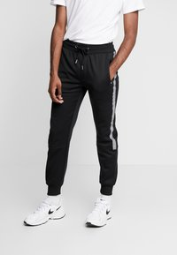 New Look - STREFLECTIVE SIDE JOGGER - Tracksuit bottoms - black - 0