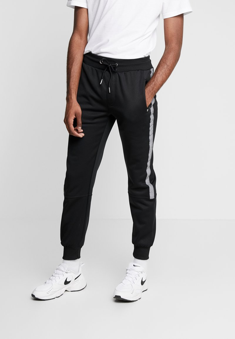 New Look - STREFLECTIVE SIDE JOGGER - Tracksuit bottoms - black