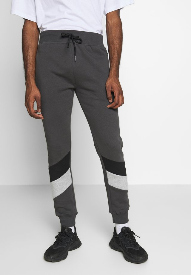 CHEVRON COLOURBLOCK JOGGER - Trainingsbroek - mid grey