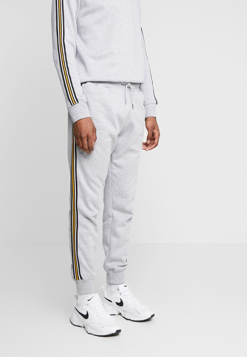 New Look - TAPED JOGGER - Tracksuit bottoms - grey marl