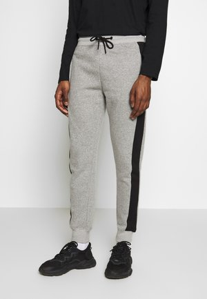 STCOLOURBLOCK MARL JOGGER  - Tracksuit bottoms - light grey