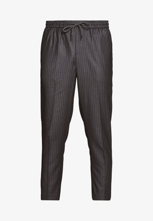STRIPE PULL ON - Trousers - mid grey