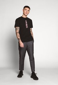 New Look - STRIPE PULL ON - Pantaloni - mid grey - 1