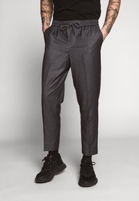 New Look - STRIPE PULL ON - Pantaloni - mid grey - 0