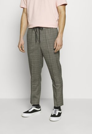 HAROLD TONAL CHECK PULL ON - Trousers - dark grey