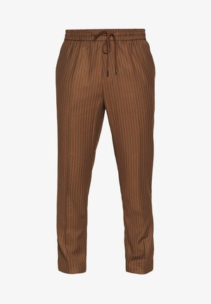 PIN STRIPE PULL ON - Pantaloni - stone