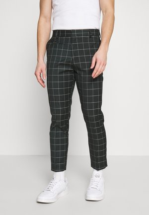 GRID CROP  - Trousers - 38-dark green