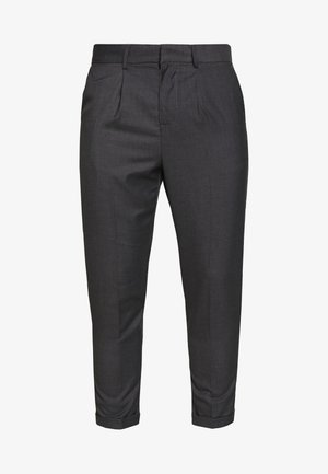 PLEAT PULL ON - Pantalon classique - mid grey