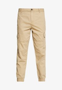 New Look - CUFFED CARGO TROUSER - Cargobroek - tan - 3