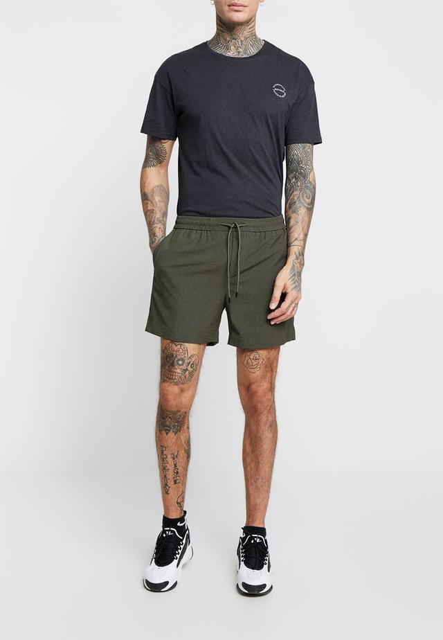 PIPING - Shorts - dark khaki