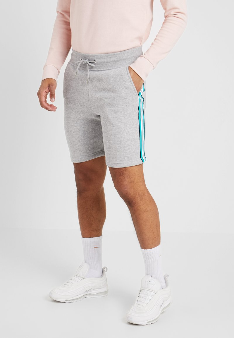 New Look - SIDE TAPE - Shorts - light grey