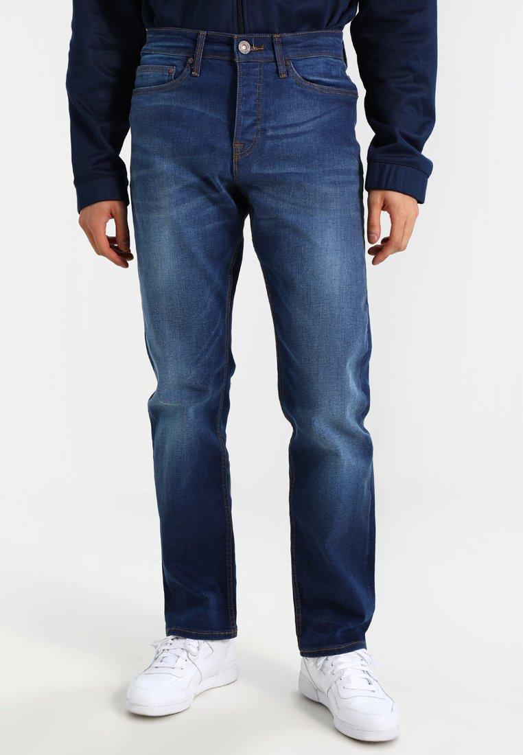 New Look - NEW CONNOR CROSSHATCH - Jeans Straight Leg - light blue