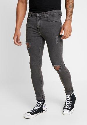 IDRIS RIP WASHED - Jeans Skinny - dark grey