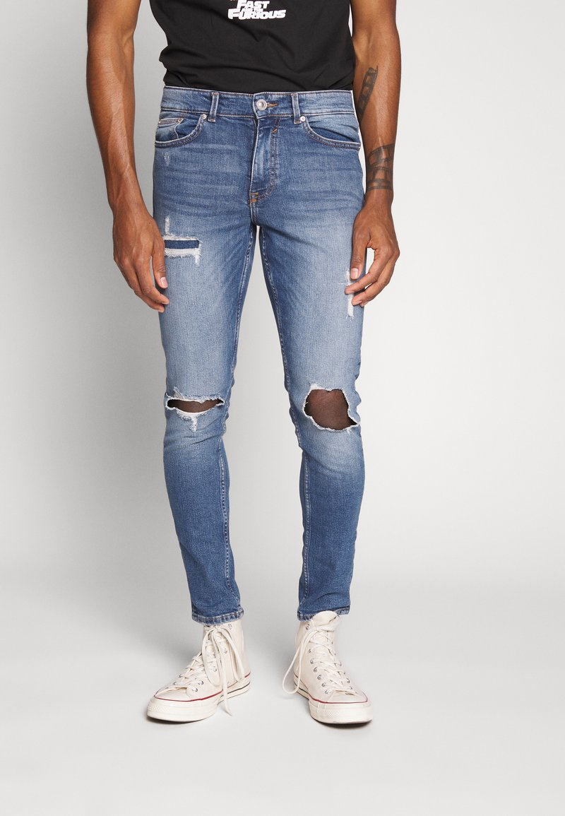 New Look - OLIVER - Jeans Skinny Fit - mid blue
