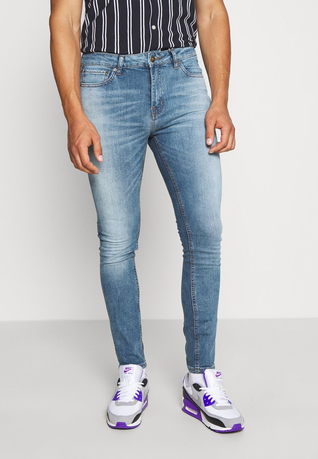 SPRAY ON WASH SIMON - Jeans Skinny Fit - mid blue