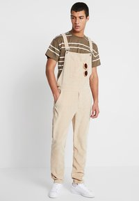 New Look - PARSNIP STRIPE TEE - T-shirt imprimé - mink - 1