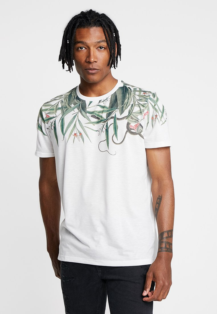 New Look - SNAKE PALM SUB TEE - T-shirt imprimé - white