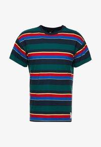 New Look - CHELT STRIPE TEE - Print T-shirt - dark green - 4