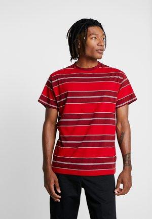 FILEY STRIPE TEE  - T-Shirt print - red