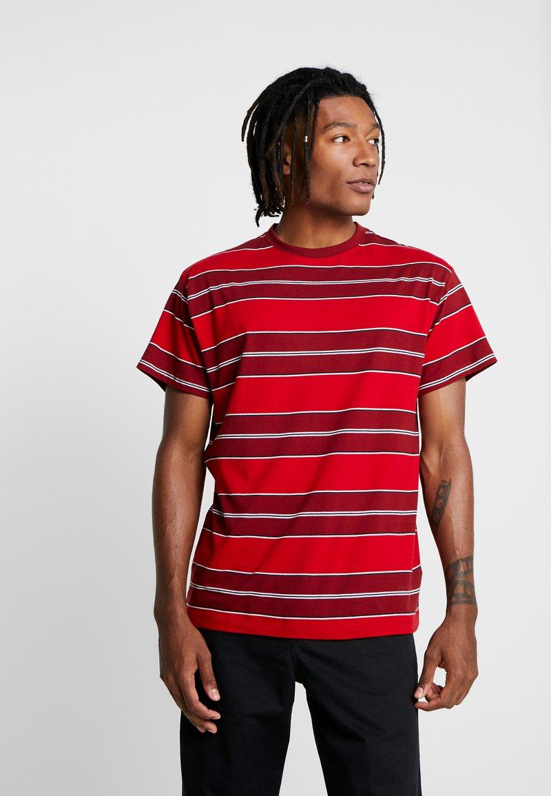 New Look - FILEY STRIPE TEE  - T-shirt imprimé - red