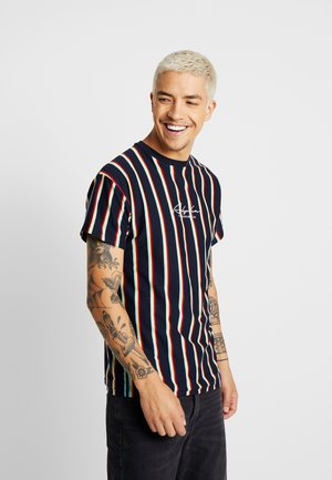 ALFA VERT STRIPE TEE - T-shirt con stampa - navy