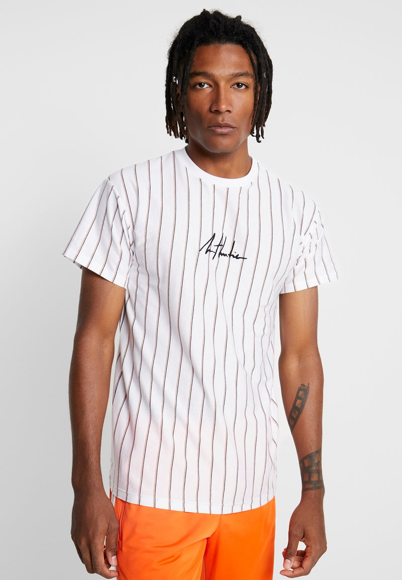 New Look - ATLANTIC VERT STRIPE TEE - T-shirts med print - white