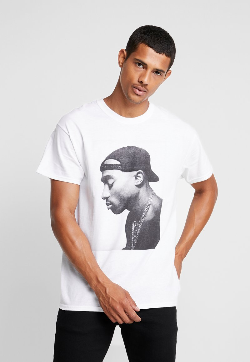 New Look - TUPAC PORTRAIT TEE - T-shirt con stampa - white