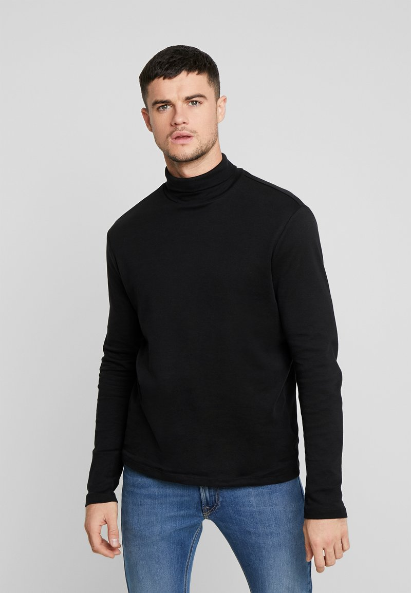 New Look - ROLL NECK - Long sleeved top - black
