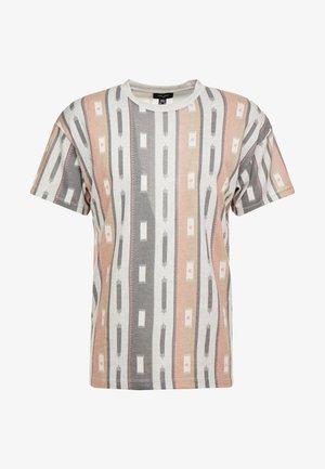 AZTEC STRIPE TEE - T-shirts med print - grey marl