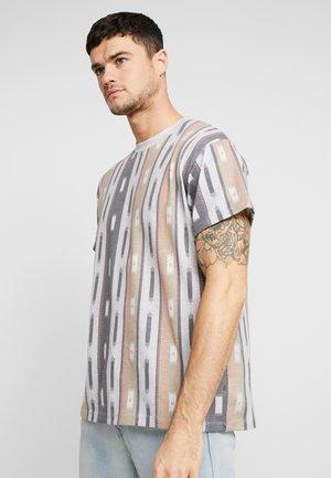 AZTEC STRIPE TEE - Print T-shirt - grey marl