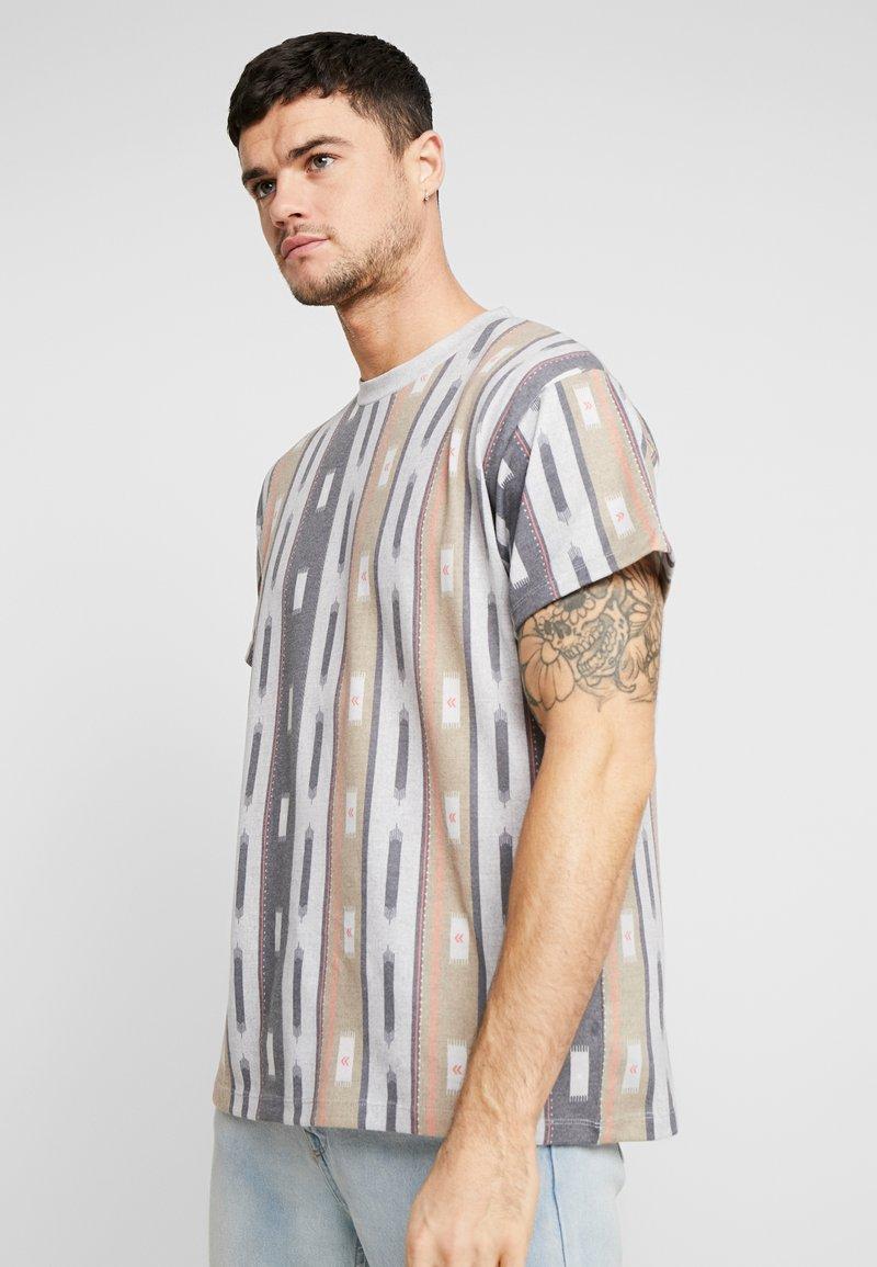 New Look - AZTEC STRIPE TEE - Print T-shirt - grey marl