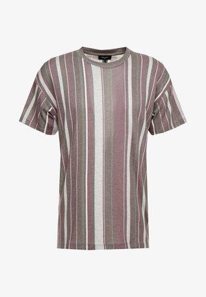 STRIPE TEE  - T-shirts - light khaki
