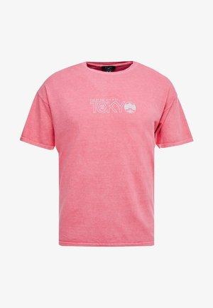 TEE - Print T-shirt - red niu