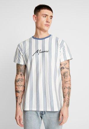 MIAMI STRIPE  - T-shirt con stampa - white