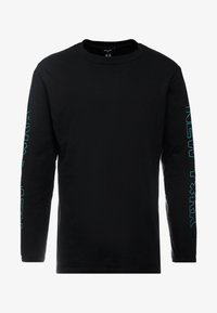 New Look - PRINT CUFF TEE - Top sdlouhým rukávem - black - 4
