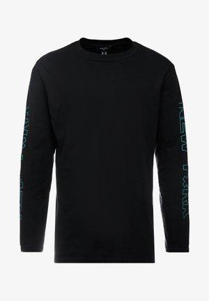 PRINT CUFF TEE - Top sdlouhým rukávem - black
