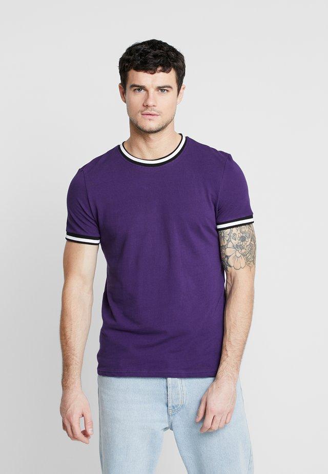 TIPPED TEE  - T-shirt basic - bright purple