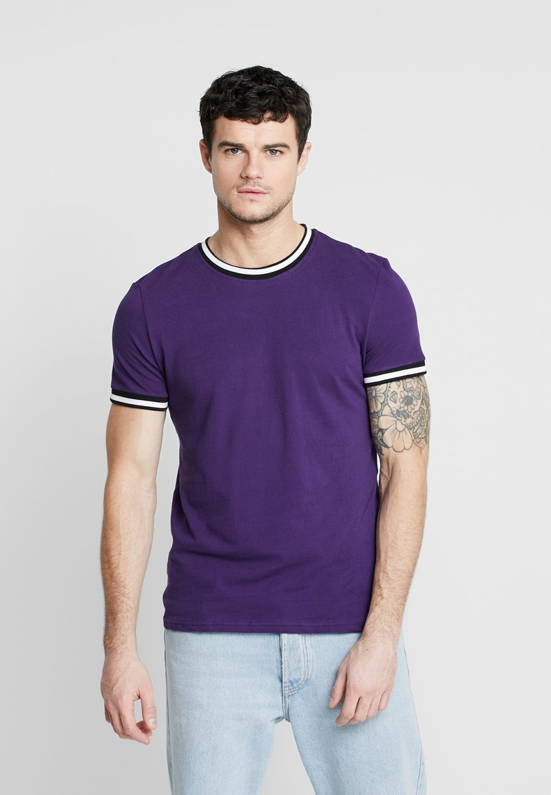 New Look - TIPPED TEE  - T-shirt - bas - bright purple
