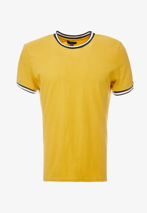 TIPPED TEE - T-shirts - mid yellow