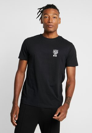 TIGER CHEST - T-shirt con stampa - black